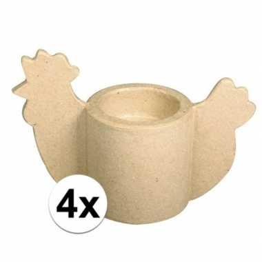 4x pasen eierdop om zelf te versieren
