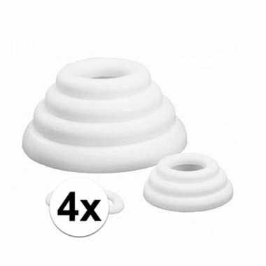 4x platte ringen van piepschuim 30 cm