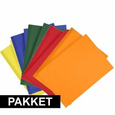 5x a4 hobbykarton in vijf kleuren