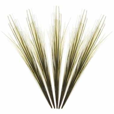 5x groene grassprieten kunsttakken 58 cm