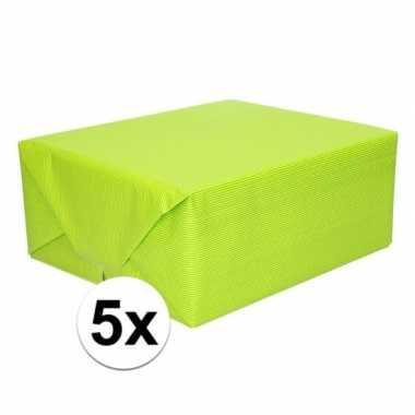 5x kaftpapier lime groen 70 x 200 cm kraftpapier