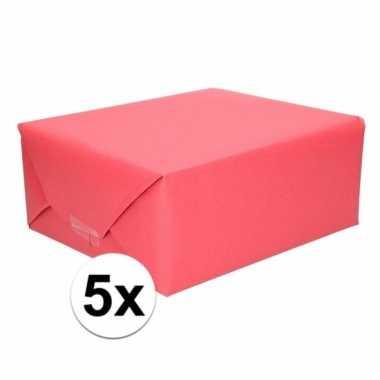 5x kaftpapier rood 70 x 200 cm kraftpapier