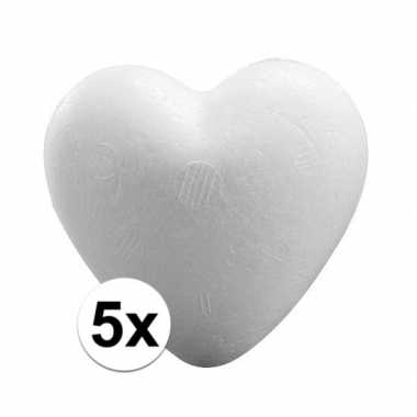 5x knutsel harten piepschuim 12 cm