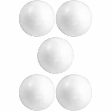 5x knutselmateriaal bal/bol 15 cm styrofoam/polystyreen/piepschuim