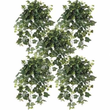 5x nep planten groene hedera helix klimop weerbestendige kunstplanten