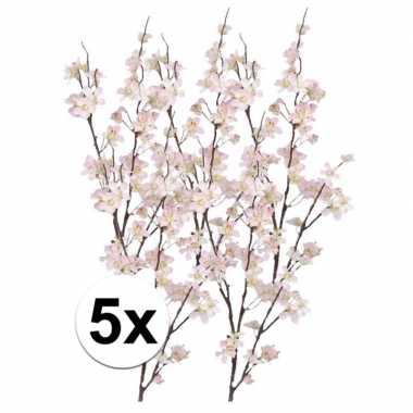 5x roze appelbloesem takken 84 cm