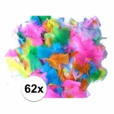 62x knutsel veren vrolijke kleuren