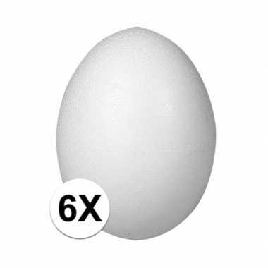 6x ei van piepschuim 6 cm