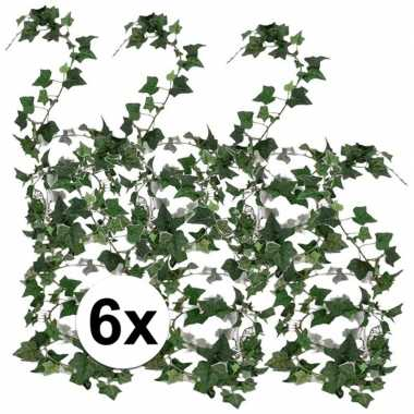 6x klimop slinger groen hedera helix 180 cm