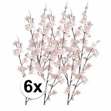 6x roze appelbloesem takken 84 cm