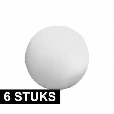 6x stuks piepschuimen ballen vormen van 12 cm
