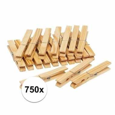 750x houten wasgoedknijpers / knijpers