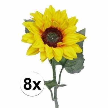 8 nep zonnebloemen 81 cm