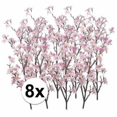 8 takken appelbloesem roze 104 cm