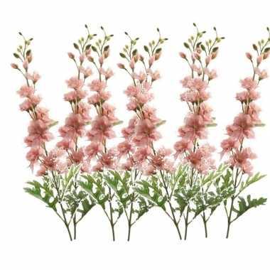 8x delphinium kunst tak 70 cm roze