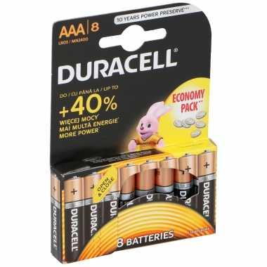 8x duracell batterijtjes aaa-batterijen 1,5 volt