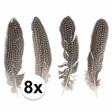 8x fazanten veertjes