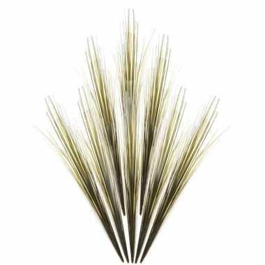 8x groene grassprieten kunsttakken 58 cm