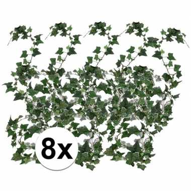 8x klimop slinger groen hedera helix 180 cm