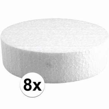 8x piepschuimen taart schijven 15 cm
