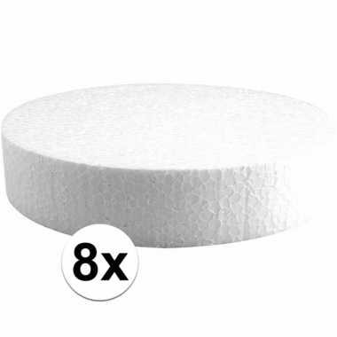 8x piepschuimen taart schijven 20 cm