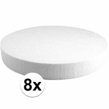 8x piepschuimen taart schijven 30 cm