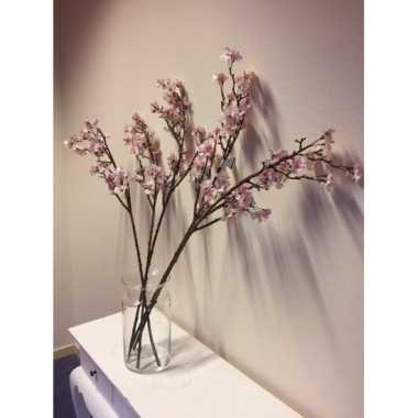 Appelbloesem decoratie takken 104 cm met vaas 10107154