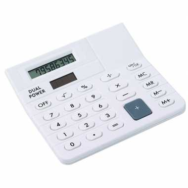 Basic rekenmachine/calculator wit 12 cm