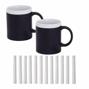 Beschrijfbare koffiemok wit