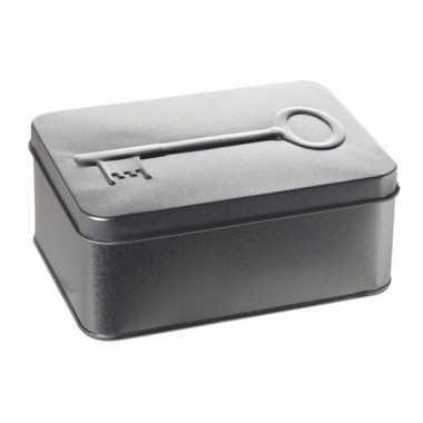 Bewaarblik voor sleutels zilver 14,5 cm