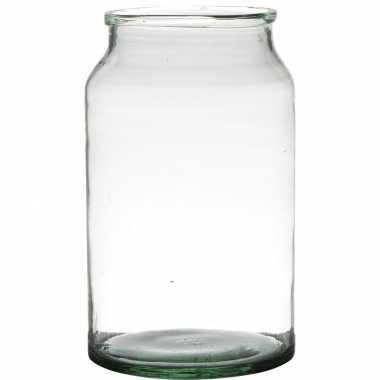 Bloemenvaas van gerecycled glas 30 x 18 cm