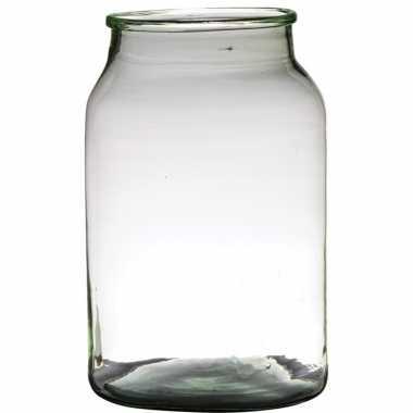 Bloemenvaas van gerecycled glas 34 x 22 cm