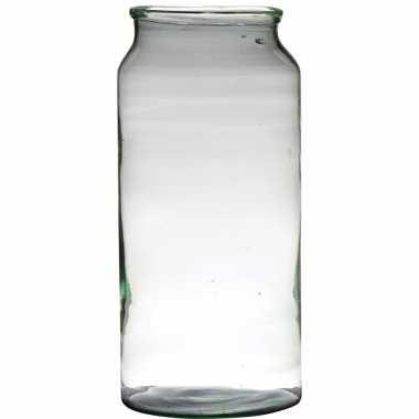 Bloemenvaas van gerecycled glas 39 x 19 cm