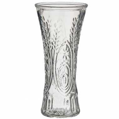 Bloemenvaas van glas 13 x 25 cm