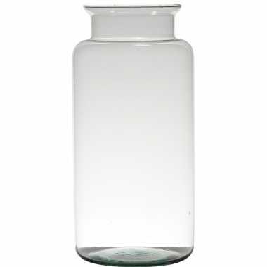 Bloemenvaas van glas 35 x 17 cm