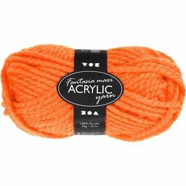 Bolletje acryl wol oranje 50 gram