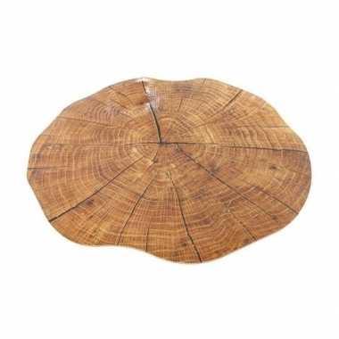 Boomstronk onderlegger/placemat rond 38 cm