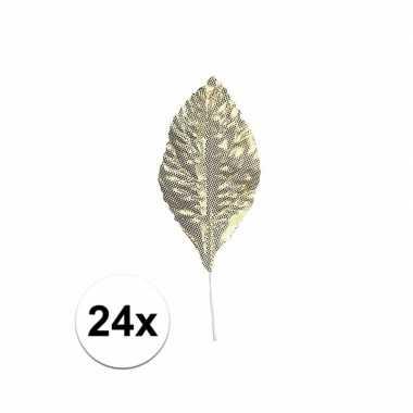 Brokaat bladeren goud 24 stuks