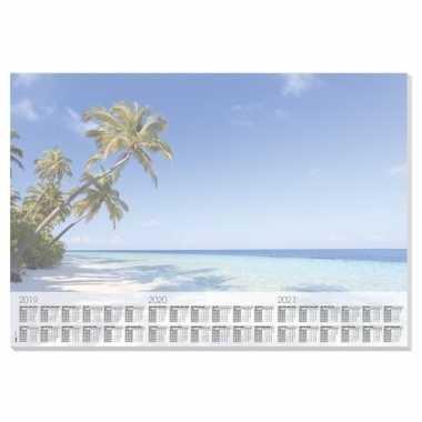 Bureau beschermer van papier 30 vellen 59.5 x 41 cm design beach