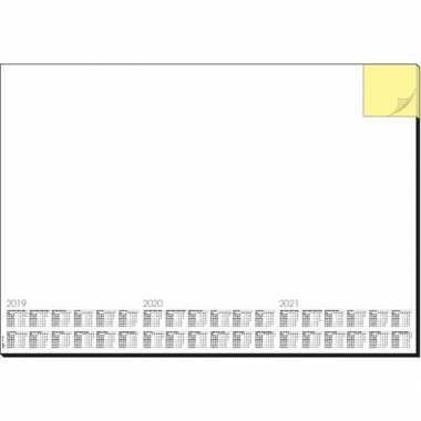 Bureau beschermer van papier 30 vellen 59.5 x 41 cm design memo white