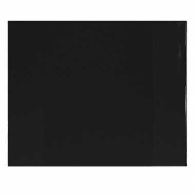 Bureau beschermer van pvc 63 x 50 cm zwart