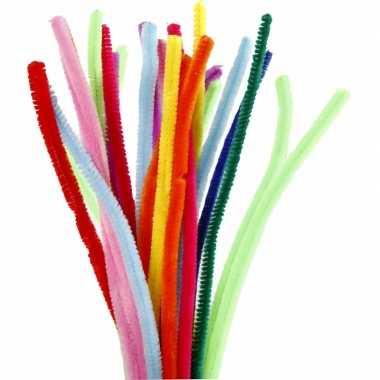 Chenilledraad diverse kleuren 30 cm 200 st