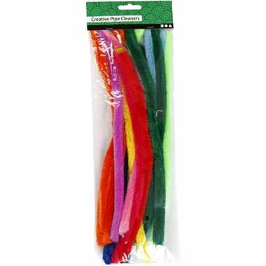 Chenilledraad diverse kleuren 30 cm 25 st