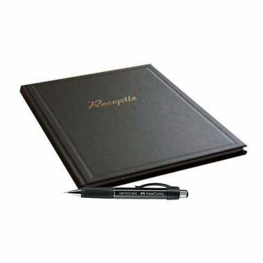 Condoleances boek zwart met luxe pen