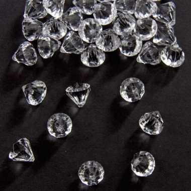Decoratie diamantjes transparant 12 mm