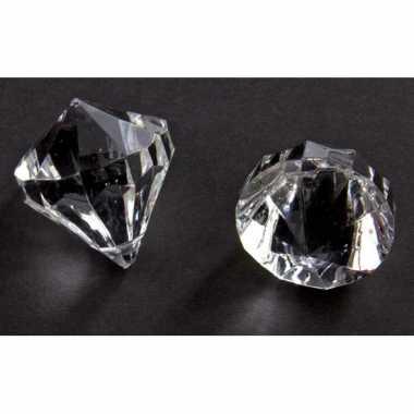 Decoratie diamantjes transparant 30 mm