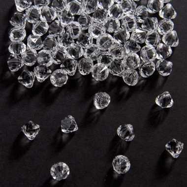Decoratie diamantjes transparant 9 mm