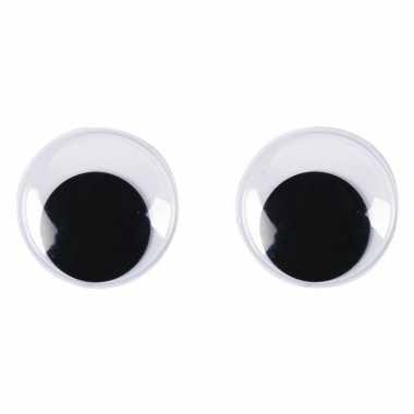 Decoratie oogjes/wiebel oogjes 30 mm 10 stuks