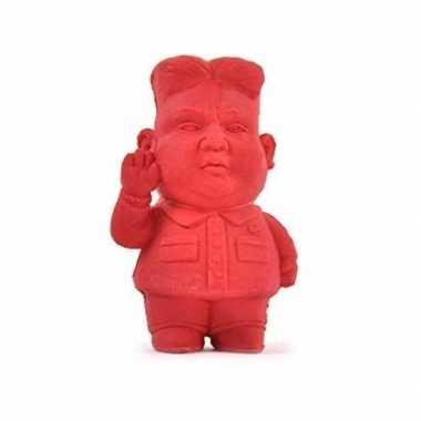 Dictator kim jong-un gum rood 9 cm