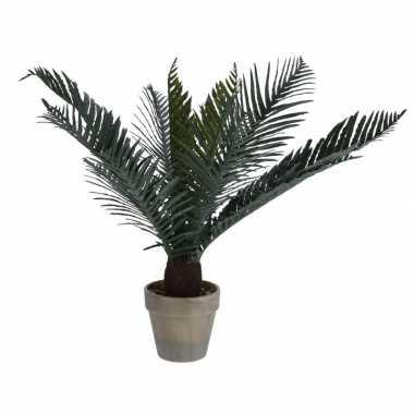 Donkergroene kunstplant varen plant in pot 50 cm